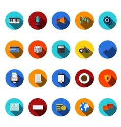 flat modern icons set vector image