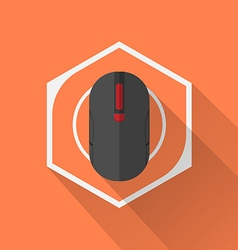 Gaming Gear Flat Icon Mouse vector image vector image