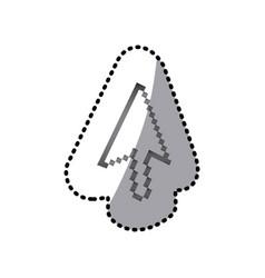 grayscale pixel cursor con vector image
