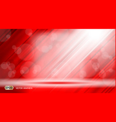 red glamorous fabric waves sparkling effects vector image