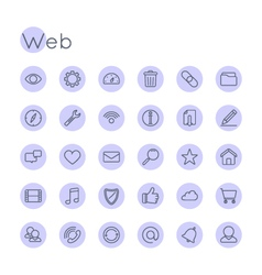 Round Web Icons vector image vector image