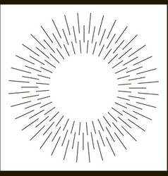 sun rays hand drawn vector image vector image