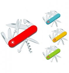 swiss knife vector image vector image