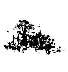 Castle Romance Concept vector image