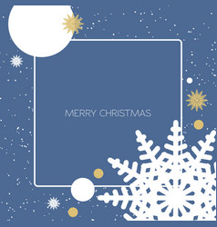 christmas background with gold and white vector image