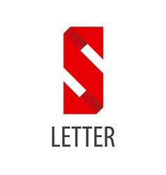 logo red ribbon in the shape of the letter S vector image