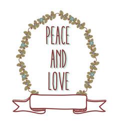 peace and love cartoon vector image