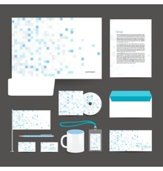 Corporate identity template design stationery vector image