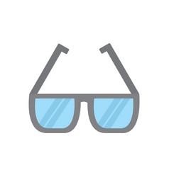 glasses square frame icon image vector image