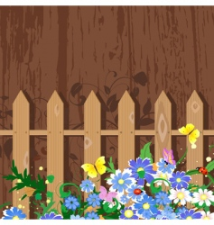 grunge decor with fence vector image