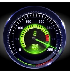 illuminated speedometer vector image vector image