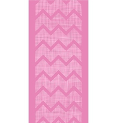 Pink fabric textured chevron stripes vertical vector image vector image