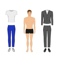 a man in his underwear vector image