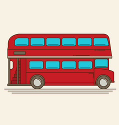 A of a red london bus vector