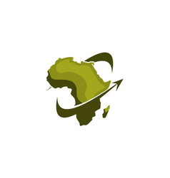 africa safari travel logo design template vector image