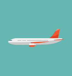 airplane flat style vector image