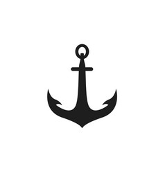 anchor icon design template isolated vector image
