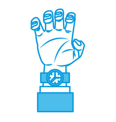 arm with wristwatch vector image