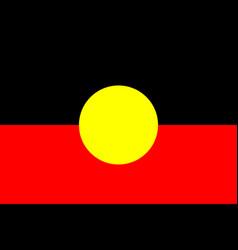Australian aboriginal flag original and simple vector