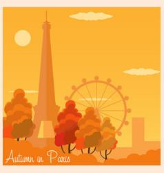 autumn in paris france autumn vector image