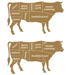Barbecue Cow Design Element vector image