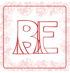 BE monogram vector image