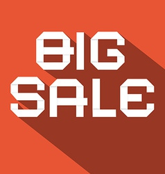 Big Sale Flat Design on Red Background vector image