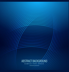 blue background with shiny curve lines vector image