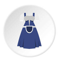 blue bavarian dress icon circle vector image