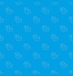 bodybuilder athlete pattern seamless blue vector image