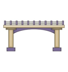 Bridge icon cartoon style vector image
