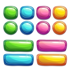 Bright buttons vector