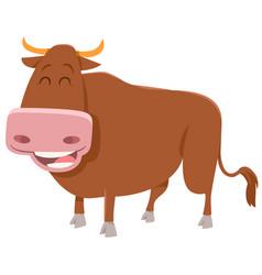 Bull farm animal vector