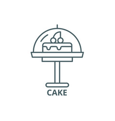 cake line icon cake outline sign concept vector image