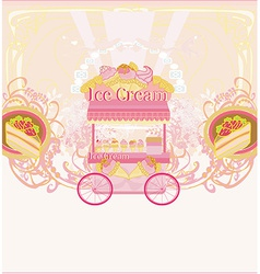candy store - abstract retro card vector image