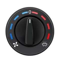 car dashboard knob switch auto air conditioner vector image