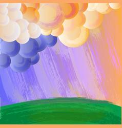 cartoon style grunge landscape vector image