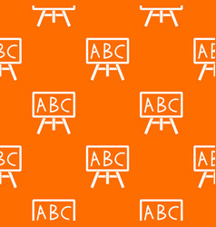 chalkboard with the leters abc pattern seamless vector image