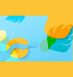 colorful summer background abstract geometric vector image