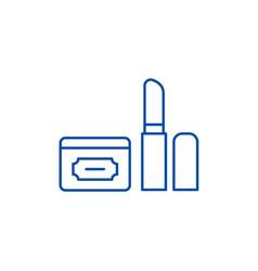 cosmetics line icon concept cosmetics flat vector image