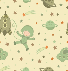 Cosmonaut pattern vector