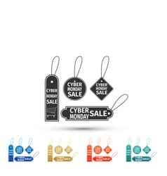 cyber monday sale tag icon on white background vector image