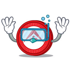 Diving ark coin character cartoon vector