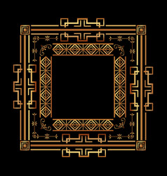 Elegant antiquarian frame in art deco style vector