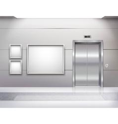 Elevator Hall Interior vector image