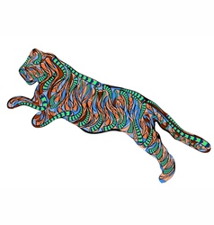 ethnic running tiger vector image