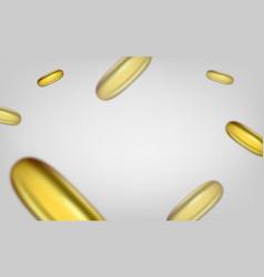 Falling cosmetic capsule of omega 3 oil or vitamin vector