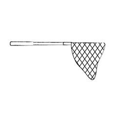 Fishing net isolated icon vector