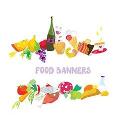 Food banners set cartoon vector image