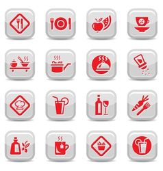 food type icon set vector image